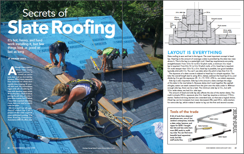 Secrets of Slate Roofing spread