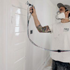 spray paint on trim