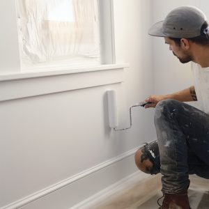 how to roll paint on walls