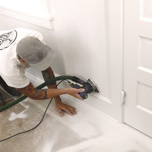 clean up paint overspray on walls