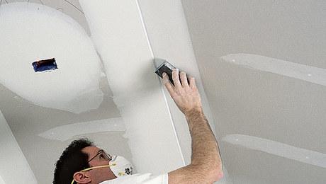tape seams drywall ceiling