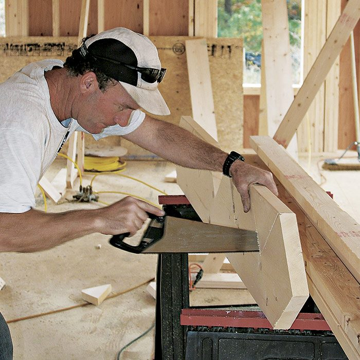 finish the cuts with a handsaw