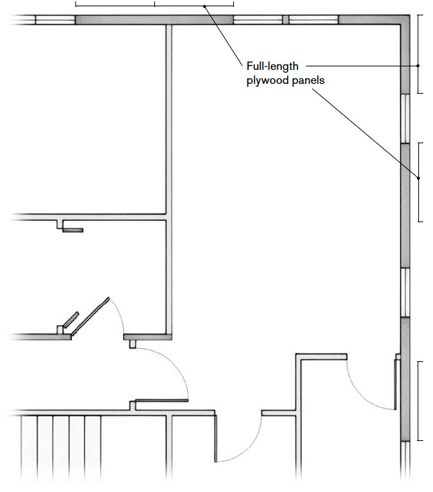 Vertical Plywood Panel Locations