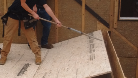 easy floor sheathing