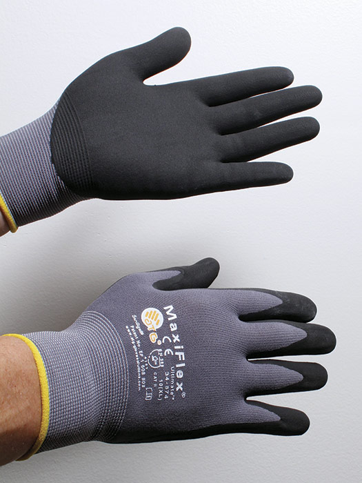flexible gloves have rubberized palms