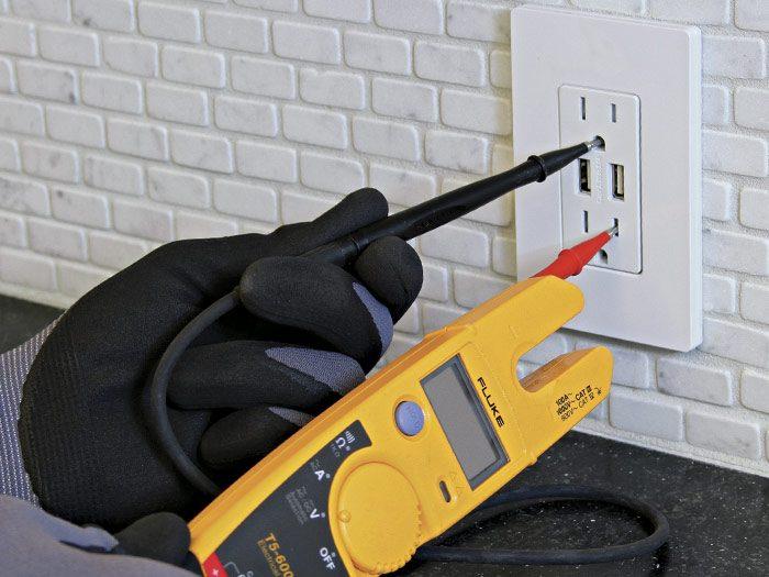 insert the tester tips