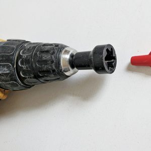 A nut-driver bit speeds up splicing, but be careful not to overtwist wires.