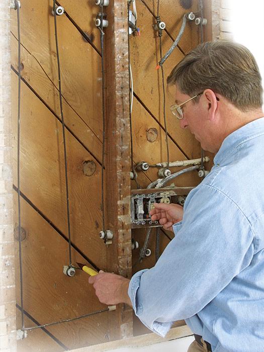 knob-and-tube wiring