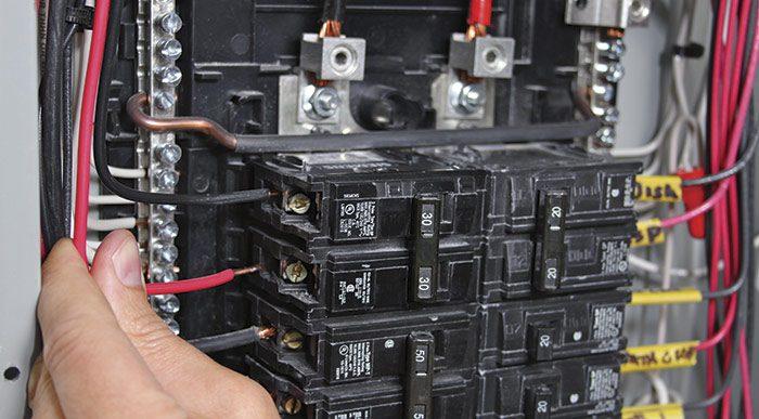 Attach the circuit ground wire