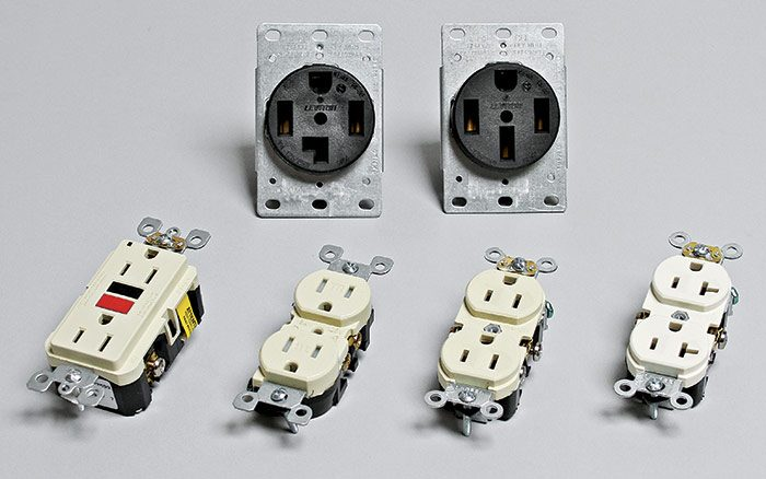 receptacles for different loads