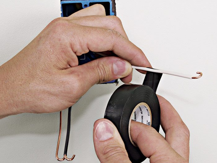 1 In this historical method, tape the white wire black to show it is a hot wire.