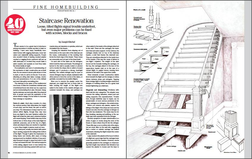 Staircase Renovation spread