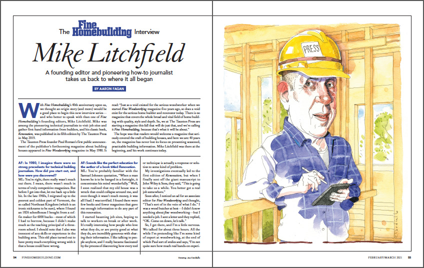 The Fine Homebuilding Interview: Mike Litchfield spread