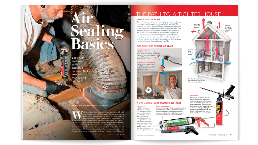 Air Sealing Basics Spread Image