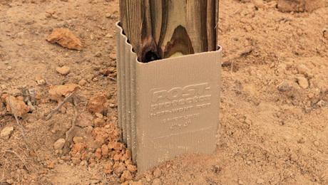 wood post sleeves