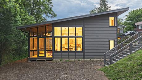 small modern house exterior