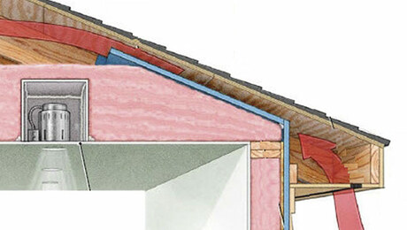 insulating Tight eaves