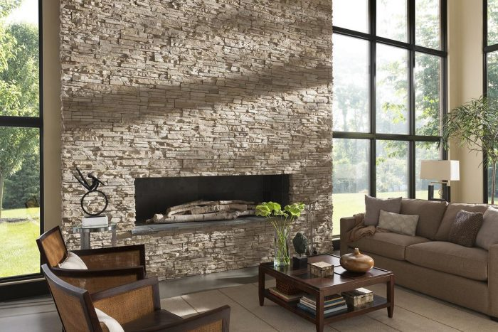 Stacked Stone Dry Creek Interior Fireplace