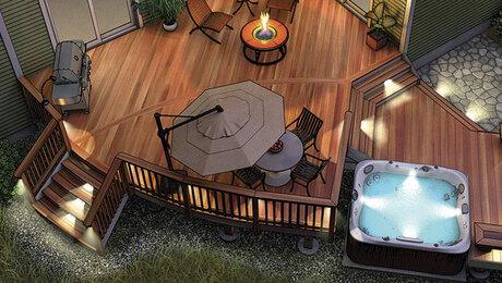 ideas for deck lighting