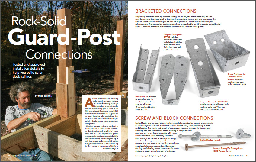 Rock-Solid Guard-Post Connections