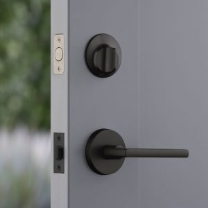 Level Lock installed in door