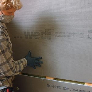 FOAMBOARD is fast and easy. A foamboard tile substrate is a backerboard and waterproofing system in one. Most brands also offer preformed shower pans that interlock with the wall panels. Joint sealant completes this DIY-friendly system.