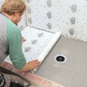 SHEET MEMBRANE is unbeatable. Effective over everything from traditional backerboard to a mud-bed shower pan, bonded sheet membrane offers the highest level of waterpoofing, durability, and crack isolation.