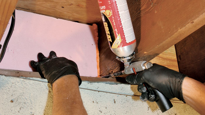 air-sealing-rim joist with foam insulation
