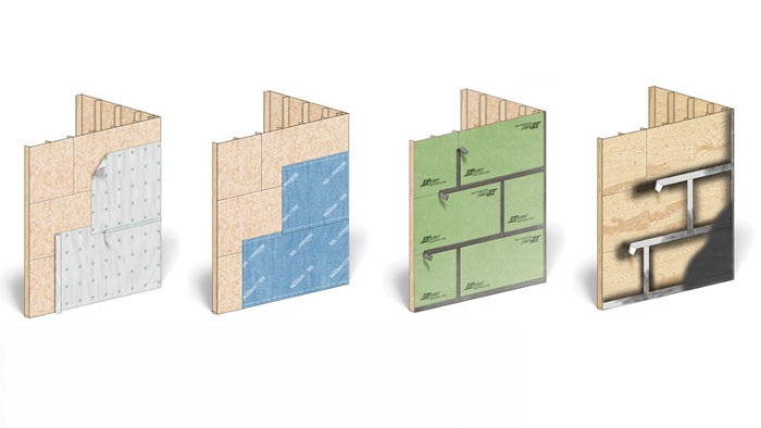 various types of housewraps and WRBs