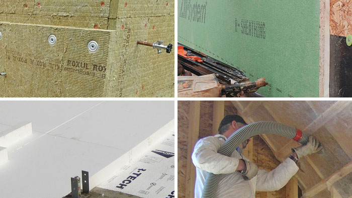 4 types of common insulation
