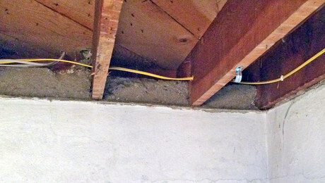 Insulating Basement Walls With Embedded Joists