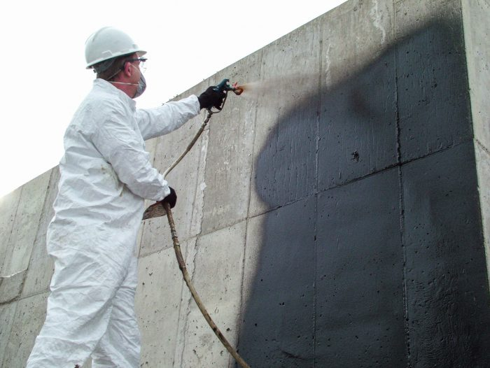 Waterproofing membranes can be sprayed on
