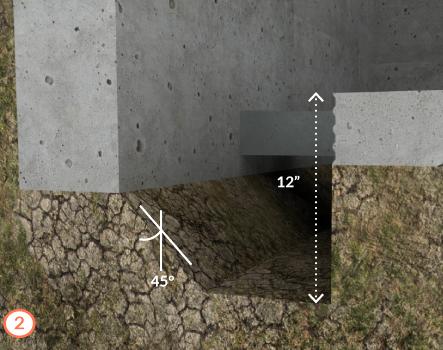 an interior French drain