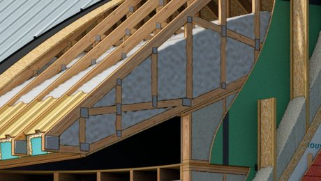 super-insulated house