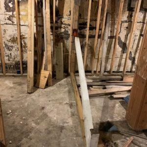 Tony's basement wall