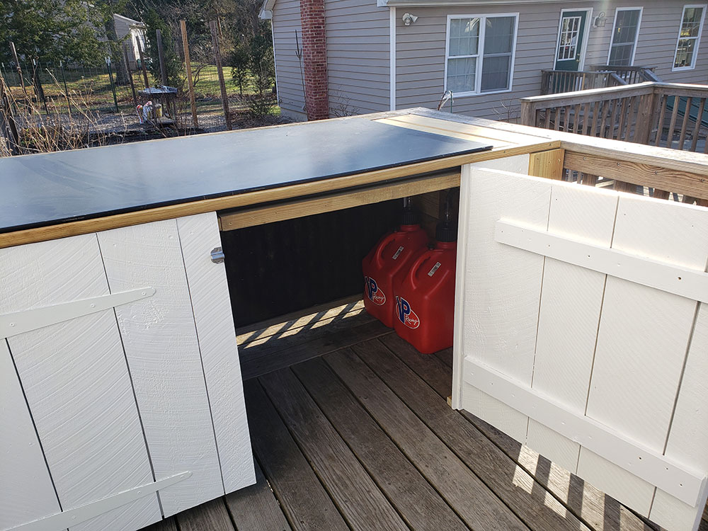 Patrick's deck cabinet