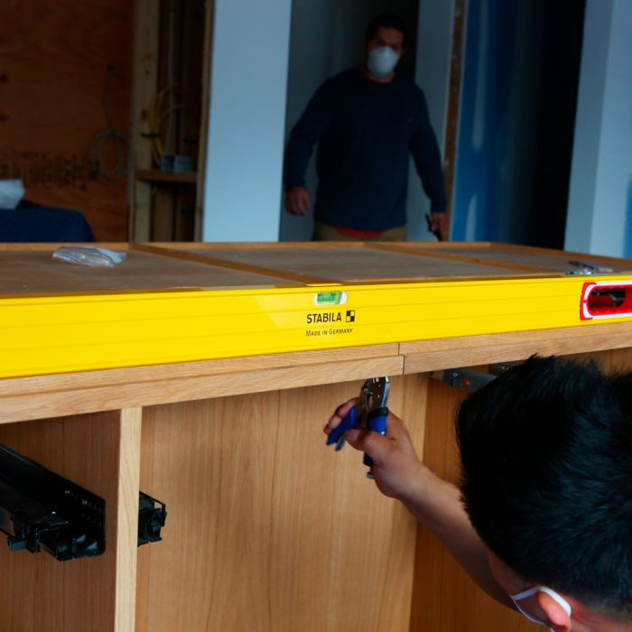 Leveling out cabinets
