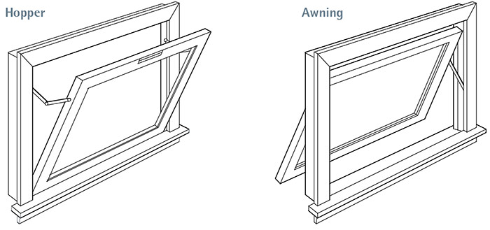 Hopper and Awning windows
