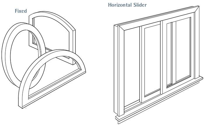fixed slider windows