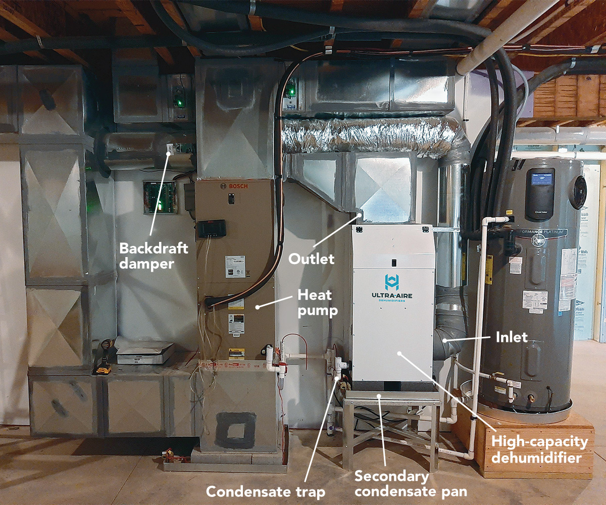 Tie in to HVAC for whole-house dehumidification