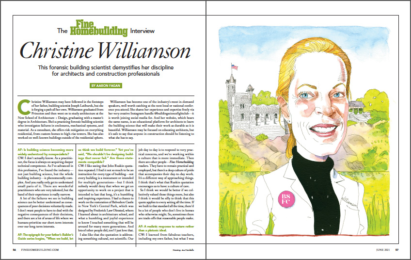 The Fine Homebuilding Interview: Christine Williamson spread