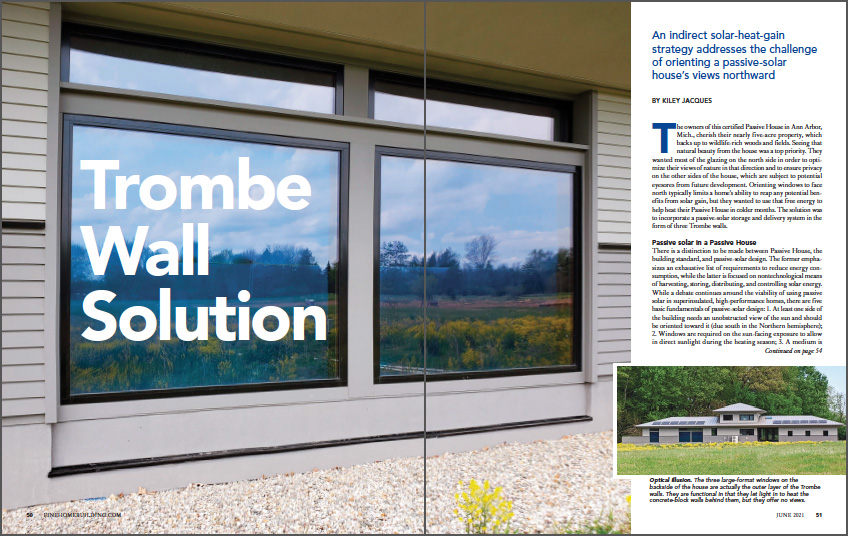 Trombe Wall Solution spread