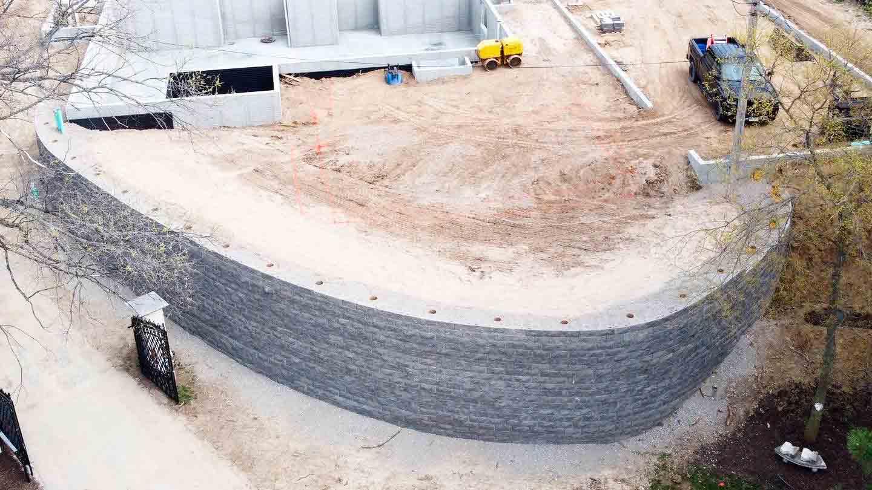 Finished-Retaining-Wall