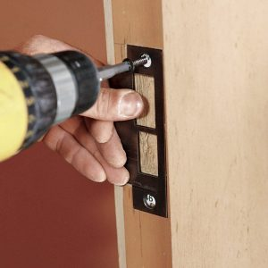 For added strength and security, use 3-in. screws that will reach framing.