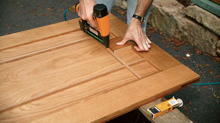 building a solid wood door