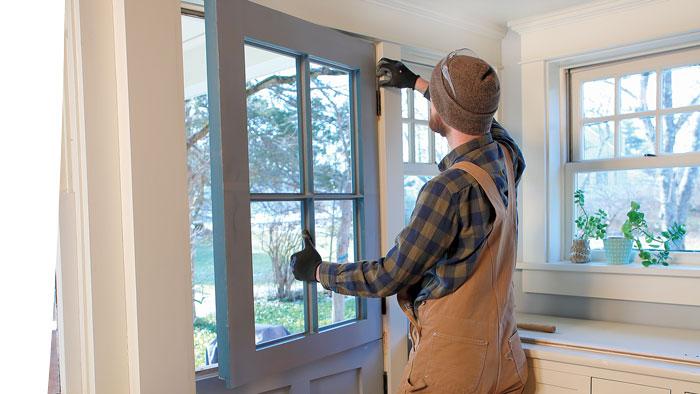 installing a hinge exterior door