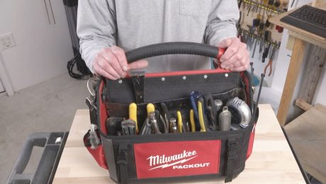 Patrick shows whta tools are in his kit