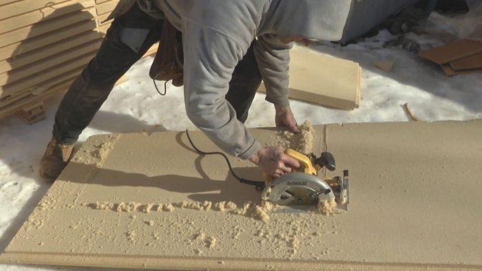 cutting wood fiber