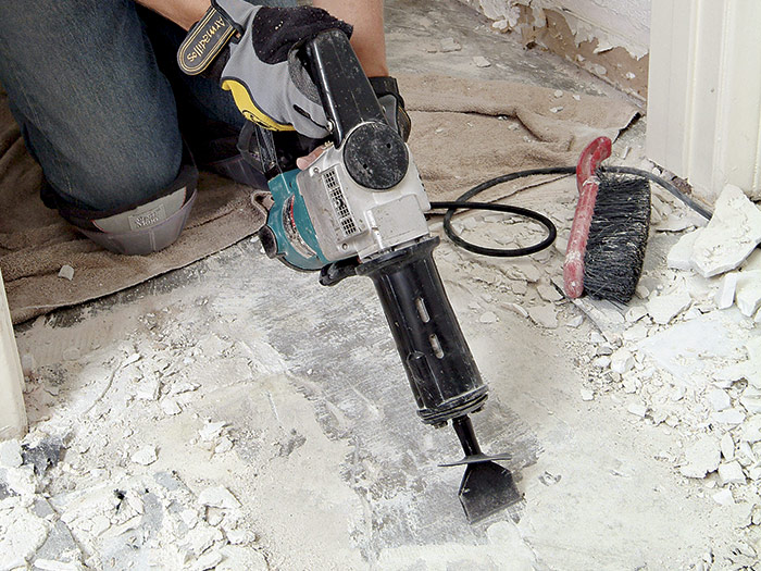 remove an old floor