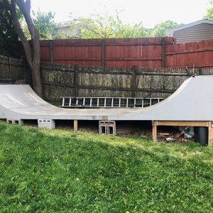 Paul's skateboard ramp